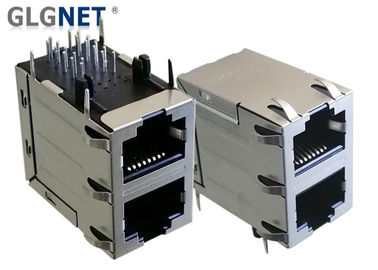 Ethernet Hubs LAN RJ 45 Connector 2 X 1 Stacked Rj45 Double Connector
