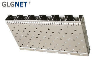 6 Ports Ganged SFP Cage Compatible With SFP Transceiver Press Fit