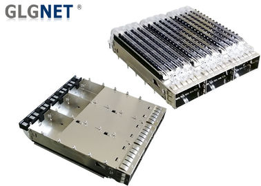 100G Ethernet SFP Cage Assembly 3 Port In 1 Row Low Power Consumption