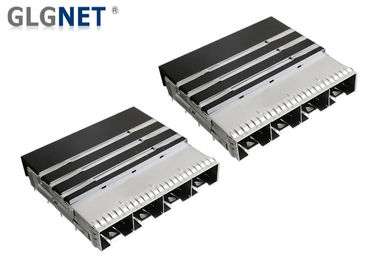 China Stainless Steel Multiple Ports SFP28 Cage Mates With SFP28 Connector Transceiver supplier