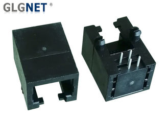 Female RJ11 6P4C Connector Latch Down RJ11 4 Pin Connector For Telephone
