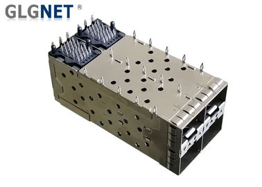 Integrated Connector Sfp Socket SFP Cage Assembly 2x2 Port Phosphor Bronze Terminal