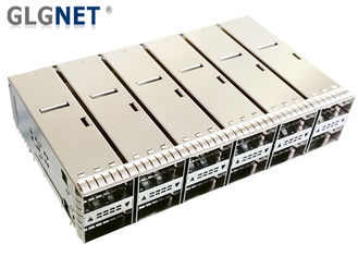 China Press Fit Monut QSFP28 Cage 2x6 Stacked Outer Light Pipe Supports 100G Ethernet supplier
