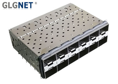 China Press Fit Mount Type SFP Cage Assembly 2x6 With EMI Gasket Integrate SFP+ Connector supplier