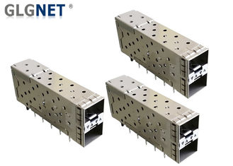 Integrated SFP Cage Connector 2x1 Inner Outer Light Pipe 10G Ethernet Application