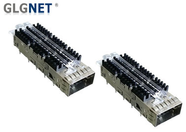China Optical Transceiver QSFP28 Cage Single Port Copper Alloy Material Press Fit Mounting supplier