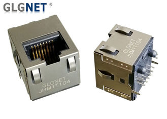 China IP Cameras NIC RJ45 Power Over Ethernet Connector 180° Angle 5G Integrated Vertical Jack supplier