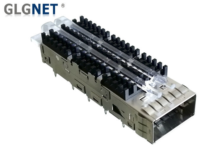 EMI Tabs Heat Sink Single Port SFP28 Cage 18 75 mm For QSFP28 Connector