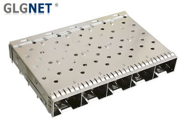China 1x5 Multiple Port Sfp Socket SFP+ Cage One Piece Copper Alloy Construction factory