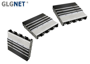 Heat Sink Mates SFP28 Sfp Socket 1 X 4 Ganged Structure With SFP28 Transceiver