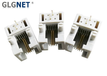 Single Port RJ11 Female Connector Tab Down Side Entry 6 Position 2 Contacts