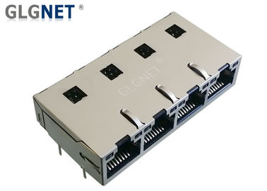 Multiple Ports Connectors RJ45 Poe Magjack Tab Up 1G Magnetic DIP Mounting With LED
