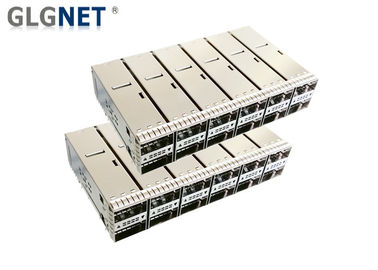 100G Ethernet Sfp Cage Connector 2x6 Stacked Quad Small Form - Factor Pluggable