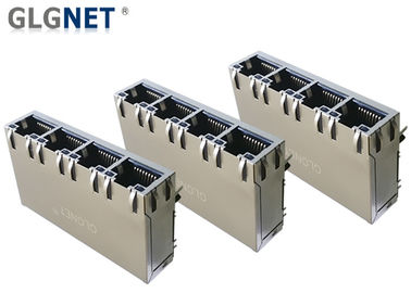 4 Ports ICM RJ45 Multiple Port Connectors 1G Support 100W UPoE+ With LED