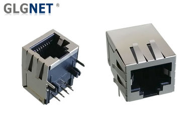 Right Angle RJ45 Without Magnetics Single Port Tab Down Pure RJ45 Without LED