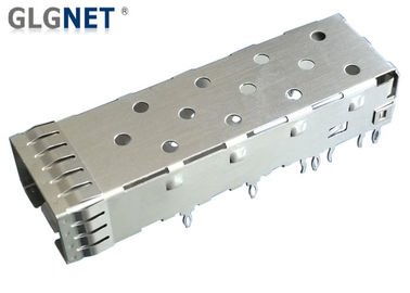 Single Port SFP Port Connector 10G Ethernet Copper Alloy Cage Material Press Fit Mounting
