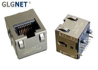 IP Cameras NIC RJ45 Power Over Ethernet Connector 180° Angle 5G Integrated Vertical Jack
